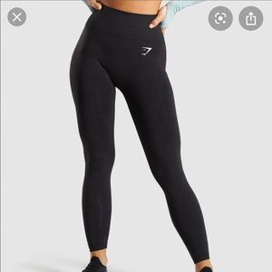 Gymshark vital seamless leggings - black marl (S)